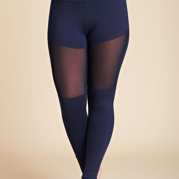 Sweat It Out Activewear Mesh Leggings (Navy)