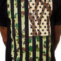 10 Deep The Stars And Stripes Tee in Black : Karmaloop.com - Global Concrete Culture