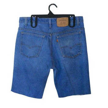 Men Jean Shorts Levi Cut Off Shorts Men Levi Shorts Levi 517 Levi Cutoff Shorts Cut Off Jean Shorts Cut Off Jeans Men Denim Shorts Blue Jean