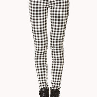 Rad Plaid Skinny Jeans