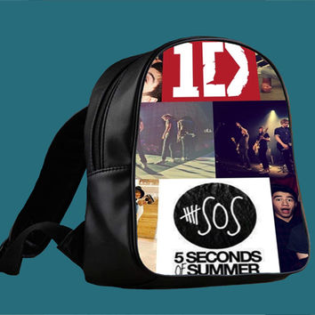 1D and 5SOS for Backpack / Custom Bag / School Bag / Children Bag / Custom School Bag *