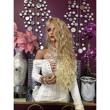 """Blonde Lace Front Wig 