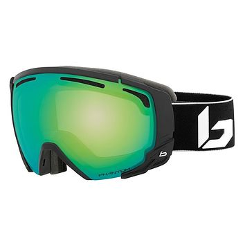 Bolle Supreme OTG Matte Black Corp Snow Goggles / Phantom Green Emerald Lenses