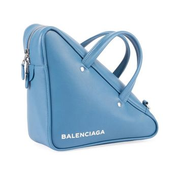 Powder Blue Angled Duffle by Balenciaga