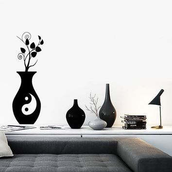 Wall Stickers Vinyl Decal Yin Yang Vase Home Decor Living Room ig1363