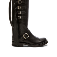 Frye Veronica Strap Tall Boot in Black