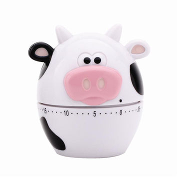 MooMoo 60 Minute Mechanical Kitchen / Egg Timer - Cow Theme