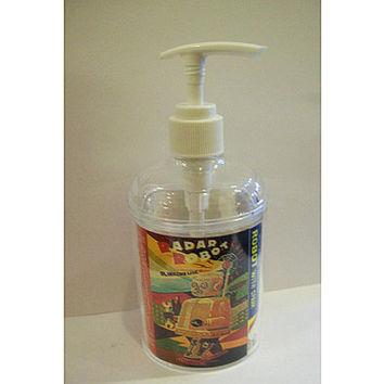 retro robot soap dispenser vintage 1950's outer space tin toy bathroom kitsch