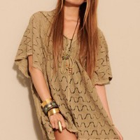 Mini Caftan Vintage Crochet Dress - DAY - DRESSES - Shop Online