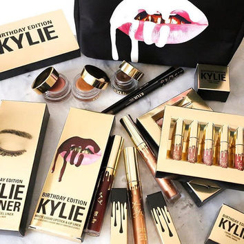 Kylie Lip 6pcs Set Matt Cup Lip Gloss Kylie Jenner Gold