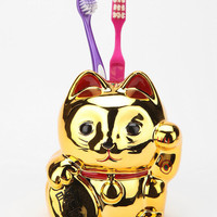Lucky Cat Toothbrush Holder