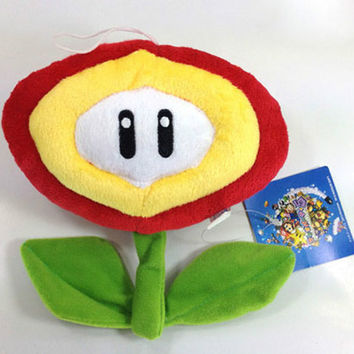 New Super Mario Bros Plush Fire Flower Soft Toy Nintendo Stuffed Animal Figure Doll