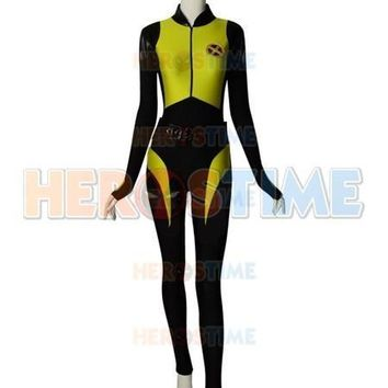 Deadpool Dead pool Taco  2 Negasonic Teenage Warhead Spandex V2 Superhero Cosplay Costume Halloween Zentai Bodysuit Custom Made Bodysuit AT_70_6