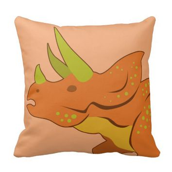 Triceratops (Face) Pillow
