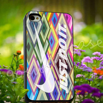Nike iPhone Case Just Do It Geometric Logo - for iPhone 4/4s, iPhone 5/5s/5C, Samsung S3 i9300, Samsung S4 i9500 Hard Plastic Case