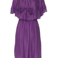 Free People Womens Cutwork Dream Embroidred Dress