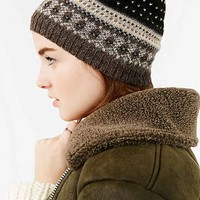 emiLime Fair Isle Beanie- Black Multi One