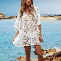 White Lace Swimsuit Cover Up