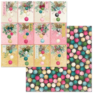 "Christmas In The Village Double-Sided Cardstock 12""X12""-Ornaments"