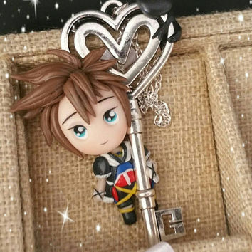 Necklace kingdom Hearts Sora collana heartless Disney square Enix fimo