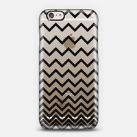 Black Ombre Chevron Transparent iPhone 6 case by Organic Saturation | Casetify