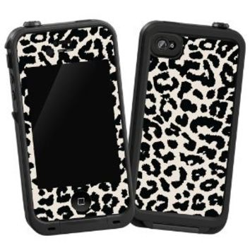 """Amazon.com: Black and White Leopard """"Protective Decal Skin"""" for LifeProof 4/4S Case: Cell Phones & Accessories"""