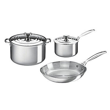 Le Creuset Stainless Steel 5-Piece Cookware Set