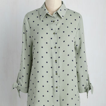 Food Truck Round-Up Top | Mod Retro Vintage Short Sleeve Shirts | ModCloth.com