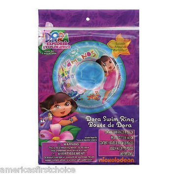"Dora the Explorer  20"" Beach Swim Ring by Nick Jr./Nickelodeon-New in Package!"
