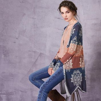 Southern Soul Patchwork Jacquard Cardigan