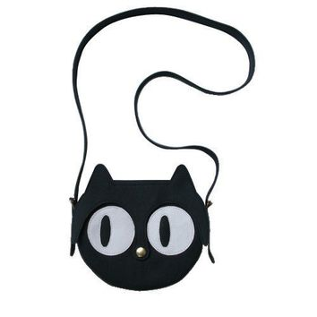 $99.00 Black Cat leather bag by LaLisette on Etsy