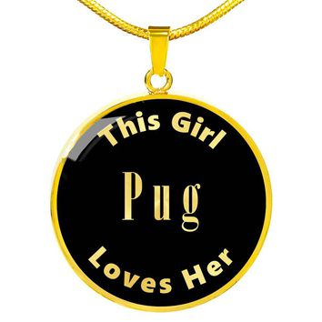 Pug - 18k Gold Finished Luxury Necklace