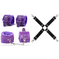 Sex Bondage Body Cross Handcuff Set