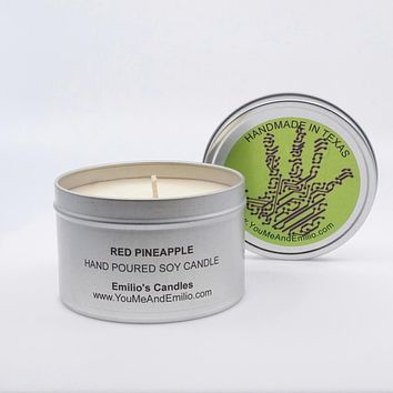 Red Pineapple Soy Candle