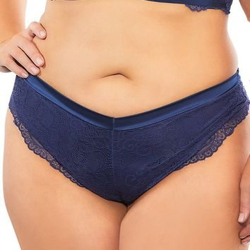 Sexy Endgame Lace Crossover Strap High Leg Plus Size Thong