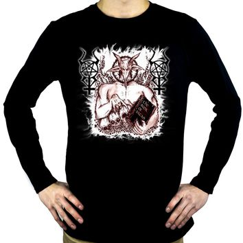 Satanic Baphomet Goat Devil Men's Occult Men's Long Sleeve T-Shirt