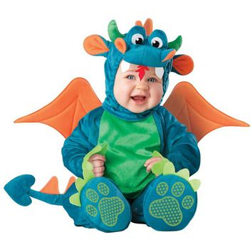 Baby halloween outfit dinosaur romper Dinky Dragon photo props Christmas costume toddler hoodies clothing for babies