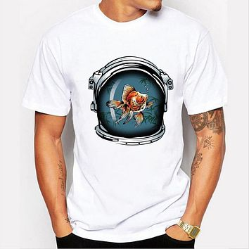 Goldfish Design Men T Shirt Top Printed Short Sleeve Casual Tops