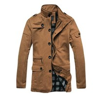 jeansian Men's Fashion Jacket Outerwear Tops Coat 8974