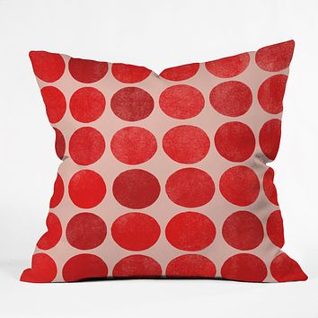 Garima Dhawan Colorplay Red Throw Pillow
