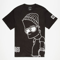 Neff The Simpsons Big Steeze Mens T-Shirt Black  In Sizes