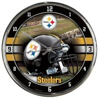 NFL Pittsburgh Steelers Chrome Clock