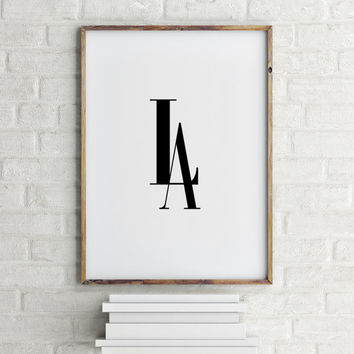 "PRINTABLE Art"" Los Angeles,L.A. Inspirational Art,Name Of City,City Poster,Wall Decor,Home Decor,Gallery Wall Art,Word Art,Los Angeles City"
