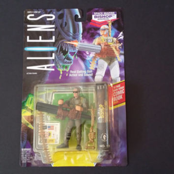 Vintage Aliens Space Marine Bishop Android Action Figure Kenner 1992 #65770 With Comic Book Inside Unopened Original Packaging
