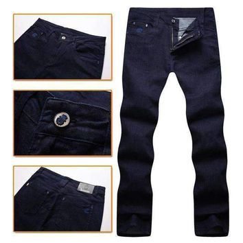 Jean Menscomfort Elegant Made Of High Material Geometry Gentleman Free