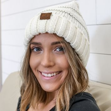 Let It Snow Beanie - Ivory