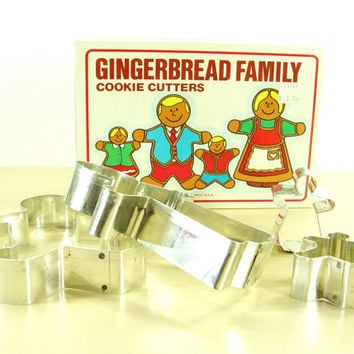 1985 Gingerbread Family Cookie Cutters - Fox Run Craftsmen