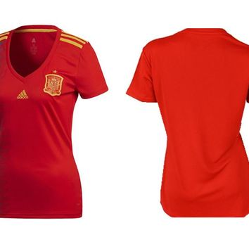 Adidas Spain 2018 Authentic Home Jersey A1005691 Red Bold Gold