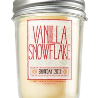 Vanilla Snowflake 6 oz. Mason Jar Candle   - Slatkin & Co. - Bath & Body Works