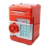 Vandesail New Style Money Saving Box Cash Coin Can Safe ATM Bank Novelty Tin Birthday Gift (RED1)